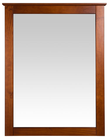 Camaflexi Shaker Style Mirror for 6 Drawer Dresser - Cherry Finish - SHK295-Mirrors-HipBeds.com