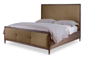 Lennox Design Lorraine Linen bed, Queen - Camo-Bedroom Sets-HipBeds.com