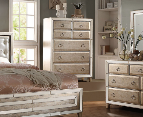 ACME Voeville Chest Antique Gold - 21006-Dressers-HipBeds.com