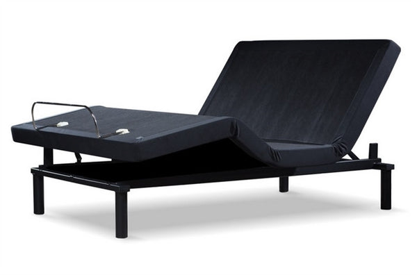 Split Queen Adjustable Bed >> Ergomotion Adjustable Queen Split Bed Base Softide 2100 Black