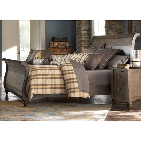 Liberty Furniture Southern Pines Bark Sleighbed - 818-BR-XSL-Sleigh Beds-HipBeds.com