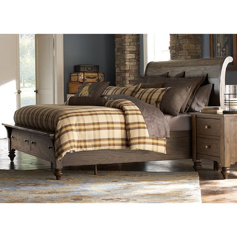 Liberty Furniture Southern Pines Bark Storage Sleighbed - 818-BR-XSB-Sleigh Beds-HipBeds.com