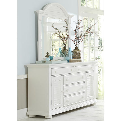 Liberty Furniture Summer House Oyster White Cottage Dresser - 607-BR32-Dressers-HipBeds.com