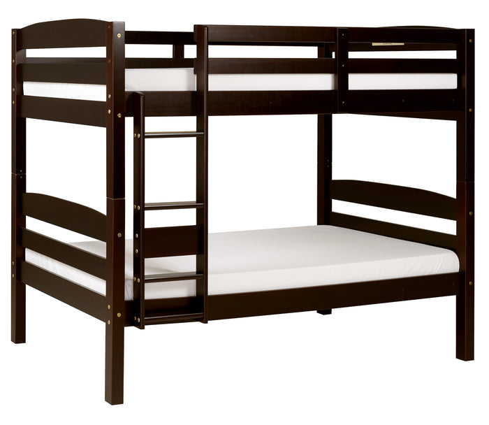 Camaflexi Bunk Bed - Concord Twin Over Twin Bunk Bed - Cappuccino Finish - T1202