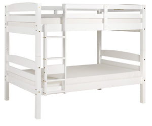 Camaflexi Bunk Bed - Concord Twin Over Twin Bunk Bed - White Finish - T1203-Bunk Beds-HipBeds.com
