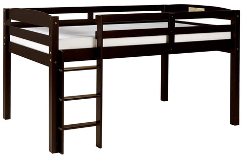 Camaflexi Bunk Bed - Concord Twin Size Junior Loft Bed - Cappuccino Finish - T1302-Loft Beds-HipBeds.com