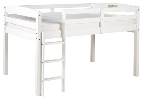 Camaflexi Bunk Bed - Concord Twin Size Junior Loft Bed - White Finish - T1303-Loft Beds-HipBeds.com