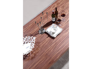 Casabianca PONTE Walnut Veneer Dining Table - TC-0067-WAL-Dining Tables-HipBeds.com