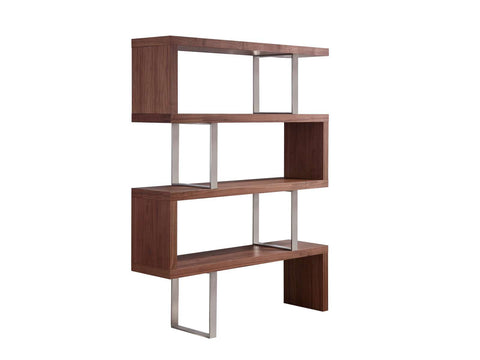 Casabianca SCALA Walnut Veneer Bookcase -TC-0074-WAL-Bookcases-HipBeds.com