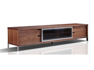 Casabianca DUKE Walnut Veneer Entertainment Center - TC-0135-WAL-Entertainment Centers-HipBeds.com