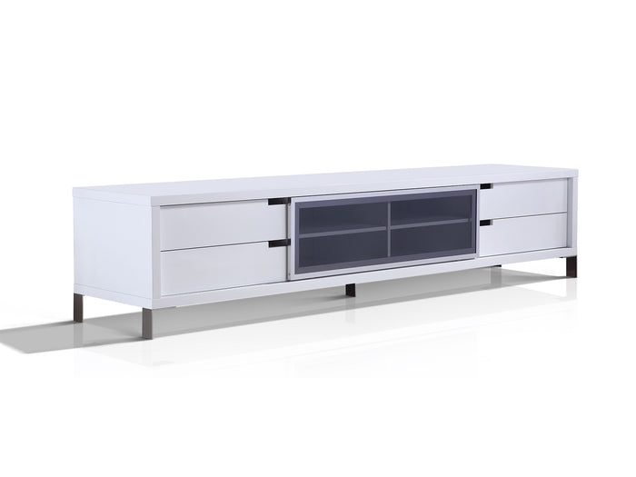 Casabianca DUKE High Gloss White Lacquer Entertainment Center - TC-0135-WH
