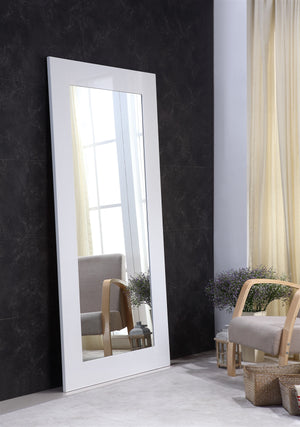 Casabianca VIEW High Gloss White Lacquer Mirror - TC-0272-WH-Mirrors-HipBeds.com