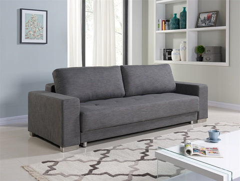 Casabianca CLOE Gray Fabric Sofa Bed - TC-1215-GR-Sofa Beds-HipBeds.com