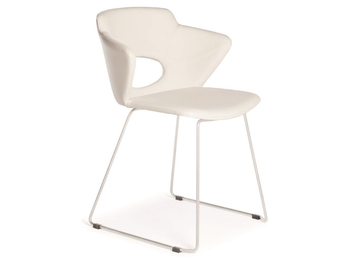 Casabianca PIOLA Italian White Eco-Leather Dining Chair
