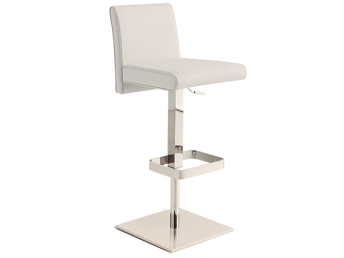 Casabianca VITTORIA Italian White Leather Bar Stool