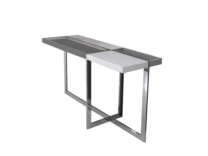 Casabianca DOMINO High Gloss White Lacquer Console Table - TC-2605