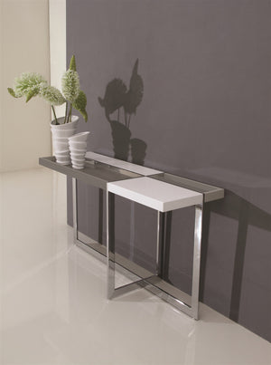 Casabianca DOMINO High Gloss White Lacquer Console Table - TC-2605-Console Tables-HipBeds.com