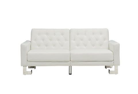Casabianca MARINO White Eco-Leather Sofa Bed - TC-5343-WH-Sofa Beds-HipBeds.com