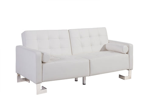 Casabianca SPEZIA White Eco-Leather Sofa Bed - TC-5518-WH-Sofa Beds-HipBeds.com