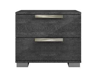 Casabianca HAMPTON Gray Birch Lacquer Nightstand / End Table - TC-9004-NG-G-Nightstands-HipBeds.com