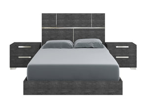Casabianca MILO Gray Birch Lacquer Queen Bed - TC-9005-QG-Platform Beds-HipBeds.com