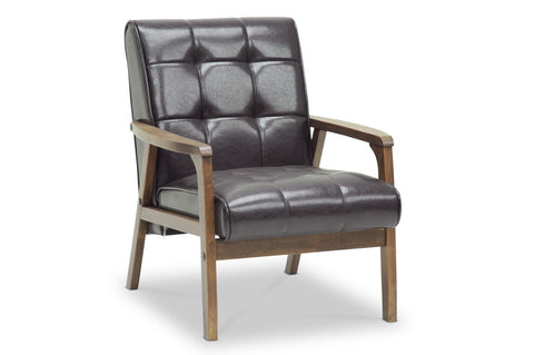 Baxton Studio Mid-Century Masterpieces Club Chair—Brown