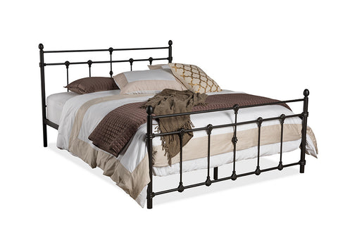 Baxton Studio Belinda Chic Antique Dark Bronze Queen Size Iron Metal Platform Bed - Antique Dark Bronze-Platform Beds-HipBeds.com