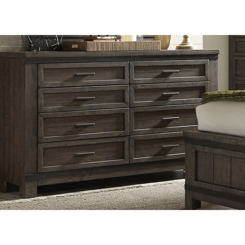 Liberty Furniture Thornwood Hills Rock Beaten Gray 8-Drawer Dresser - 759-BR31-Dressers-HipBeds.com