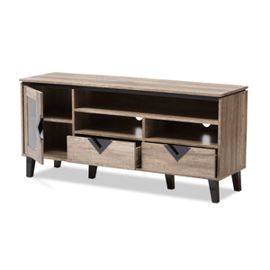 Baxton Studio Cardiff Light Brown Wood 55-Inch TV Stand - 2