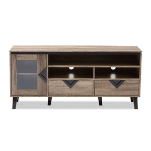Baxton Studio Cardiff Light Brown Wood 55-Inch TV Stand - 3