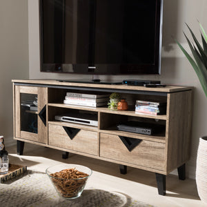 Baxton Studio Cardiff Light Brown Wood 55-Inch TV Stand - 5