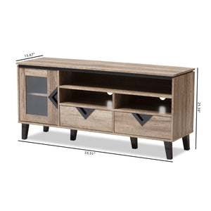Baxton Studio Cardiff Light Brown Wood 55-Inch TV Stand - 7