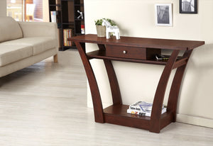 Furniture Of America Pholer Flared Panel Console Table Walnut-Console Tables-HipBeds.com