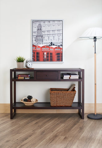 Furniture Of America Bueller Multi Storage Entryway Table Espresso-Tables-HipBeds.com