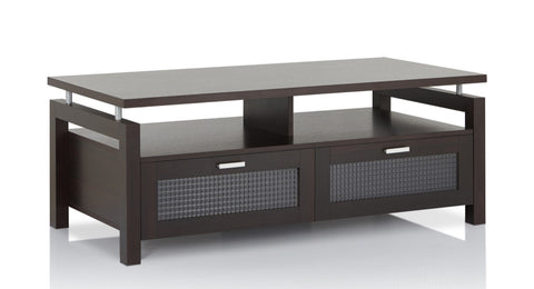 Furniture Of America Samina Lifted Shelf Top Coffee Table Espresso-Coffee Tables-HipBeds.com