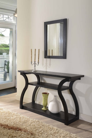 Furniture Of America Bertina Modern Open Shelf Console Table Black-Console Tables-HipBeds.com