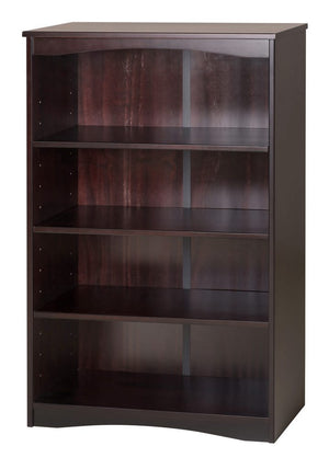 "Camaflexi Bookcase - Essentials Wooden Bookcase 48"" High - Cappuccino Finish - 41102-Bookcase-HipBeds.com"