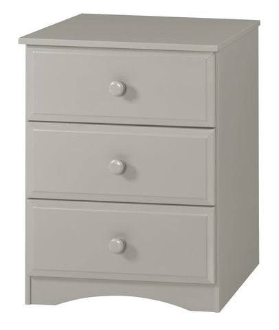 Camaflexi Chest - Essentials Three Drawer Narrow Chest - Grey  Finish - 4134-Chest-HipBeds.com