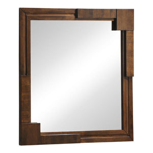 Zuo Modern San Diego Mirror Walnut - 800329-Bedroom Accessories-HipBeds.com