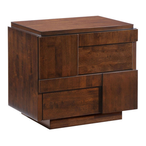 Zuo Modern San Diego Night Stand Walnut - 800330-Nightstands-HipBeds.com