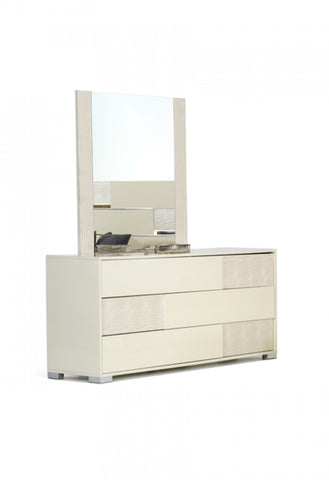 VIG Furniture Modrest Ancona Italian Modern Beige Mirror