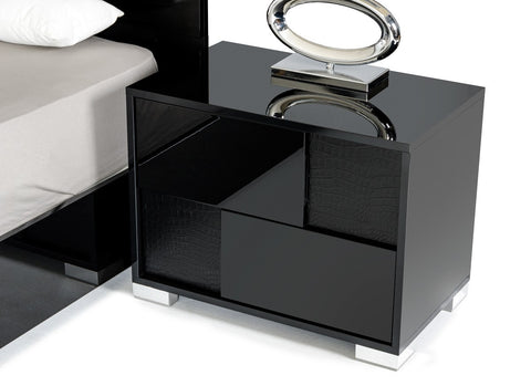 VIG Furniture Modrest Ancona Italian Modern Black Nightstand