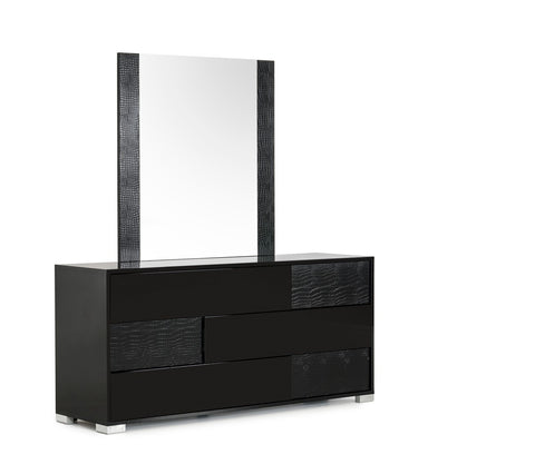 VIG Furniture Modrest Ancona Italian Modern Black Mirror