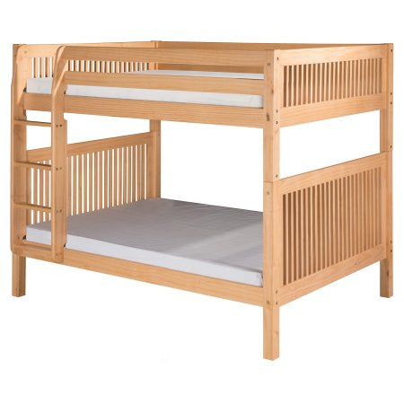 Camaflexi Full over Full Bunk Bed with Twin Trundle - Mission Headboard - Natural Finish  - C1611_TR