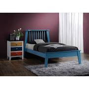 ACME Marlton Twin Bed Blue - 25405T-Platform Beds-HipBeds.com