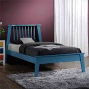 ACME Marlton Full Bed Blue - 25403F-Platform Beds-HipBeds.com