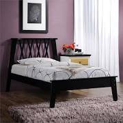 ACME Moffett Twin Bed Black - 25395T-Platform Beds-HipBeds.com