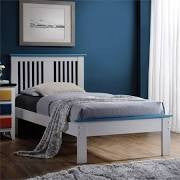 ACME Brooklet Twin Bed White & Blue - 25465T-Panel Beds-HipBeds.com
