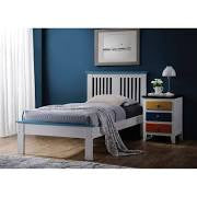ACME Brooklet Full Bed White & Blue - 25463F-Panel Beds-HipBeds.com