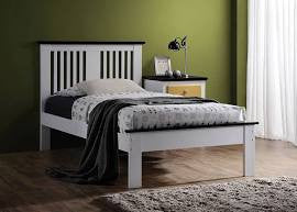 ACME Brooklet Twin Bed White & Black - 25455T-Panel Beds-HipBeds.com
